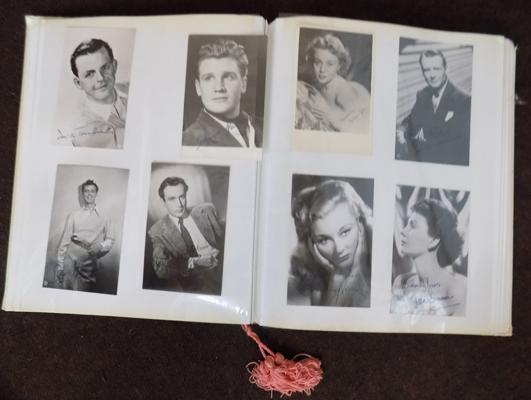 Album of show business photographs - some signed