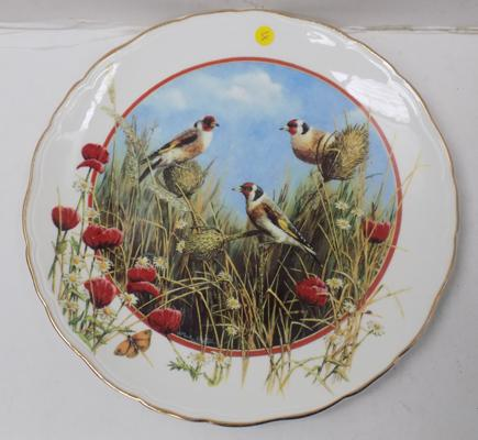 Limited Edition Royal Doulton plate - A Charm of Goldfinches