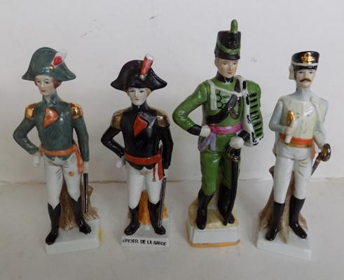 Selection of four Capodimonte figures in uniform