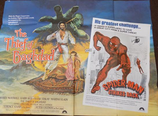 Thief of Bagdad & Spiderman film poster