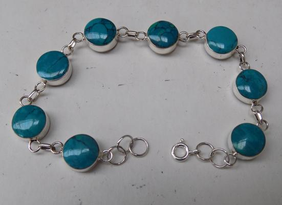 Silver double sided bracelet