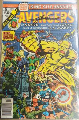 The Avengers comic - signed George Perez
