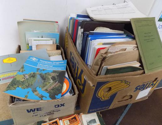 2 boxes of Railway ephemera