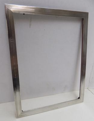 Large sterling silver photo frame-Birmingham 1927-needs glass and back