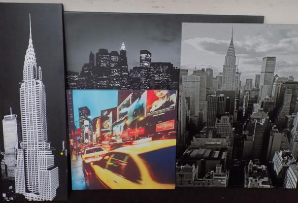 4 New York canvas pictures