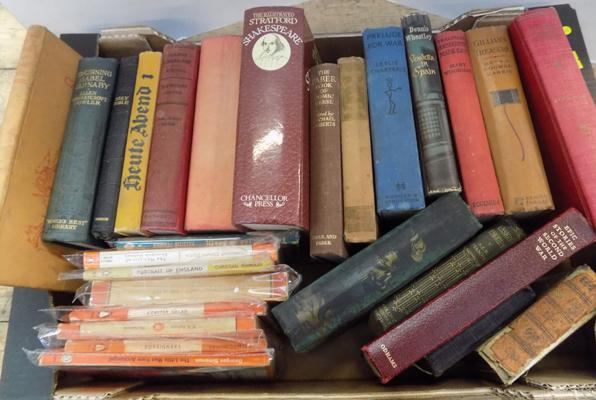 Selection of antique and vintage books - including penguin