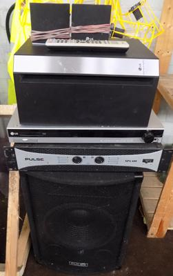 Pulse Spa 600 & speaker with LG DVD and speakers
