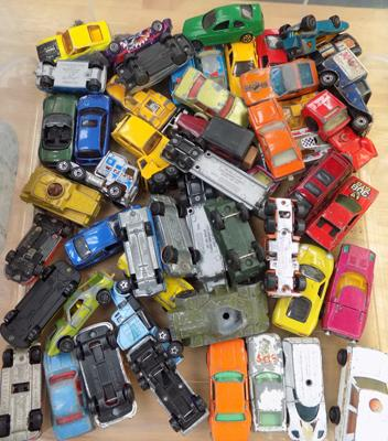 Box of collectable cars including including DINKY and Corgi