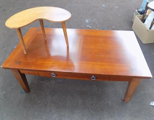 Coffee table and small kidney shaped table