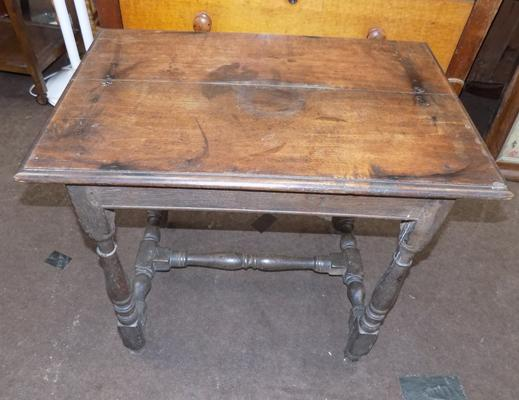 Small square occasional table