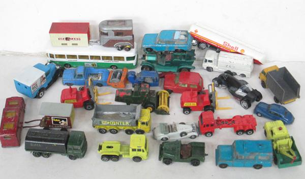Small box  of Corgi vehicles etc.