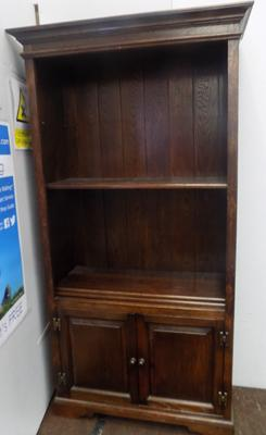 Wooden shelf with cupboard
