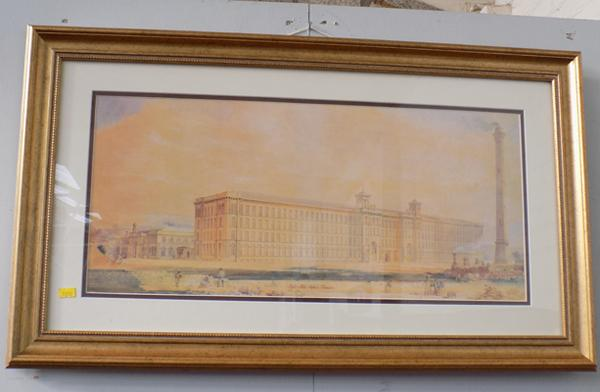 Framed picture of Saltaire Mills