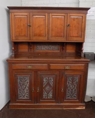 Carved back dresser