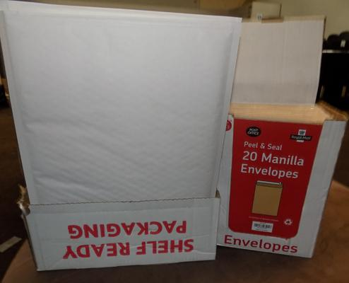 2 boxes of new envelopes