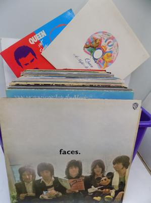 Box of Collectable LPs incl: Faces, Queen, Stones, Genisus