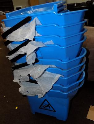9 new industrial mop buckets