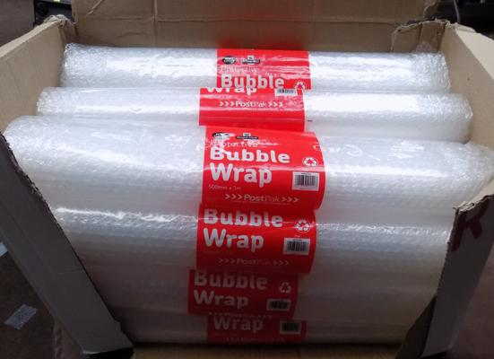12 new rolls of bubble wrap