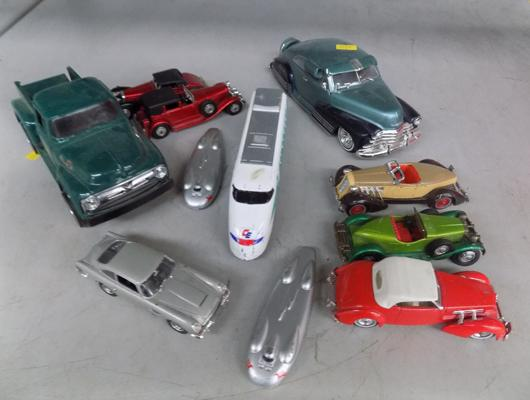 Small box of cars including matchbox