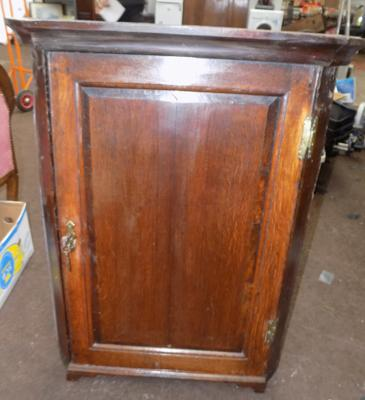 Small oak corner cupboard