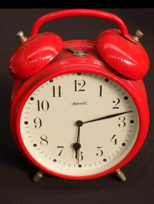 Ingersoll red alarm clock - unchecked