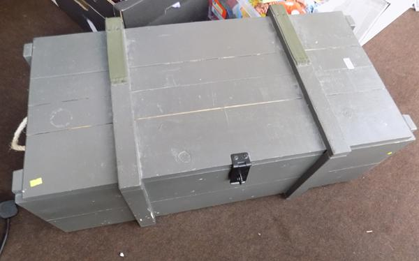 Large wooden amo box
