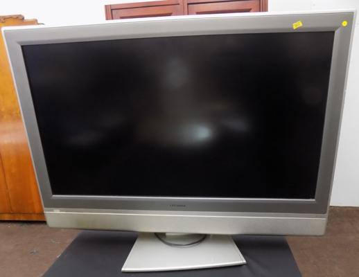 "Large 32"" flat screen TV in working order (no remote)"