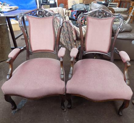 Pair of fire side chairs
