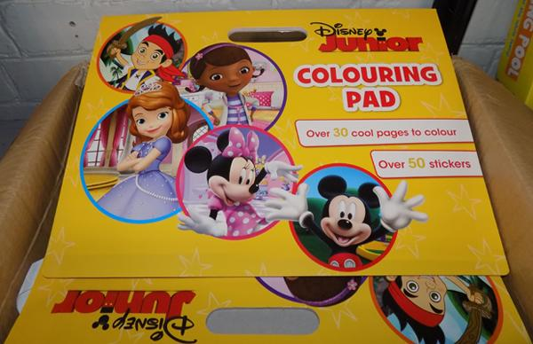 Box of Disney colouring pads