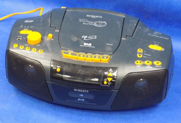 Retro style DAB radio and CD player