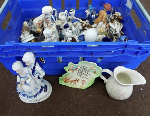 Box of ceramic figures
