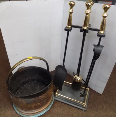 Fireside companion set and coal bucket
