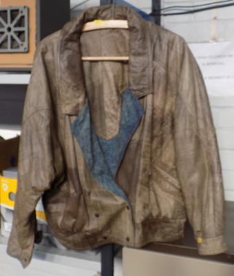 Leather/ denim jacket (reversible) size 6