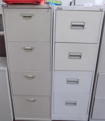 2 filing cabinets