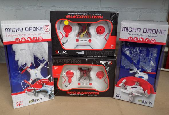 4 remote control toys including drones