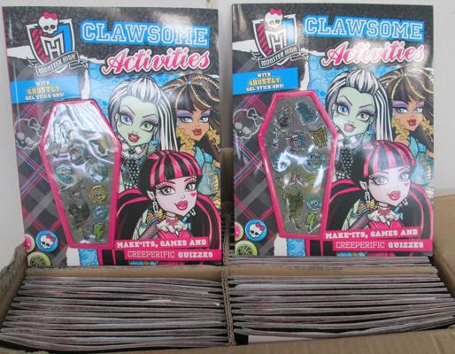 50 monster high activity books
