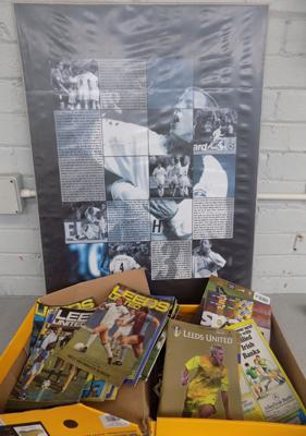 Leeds United print and selection of football programmes