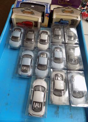 Box of boxed collectable cars