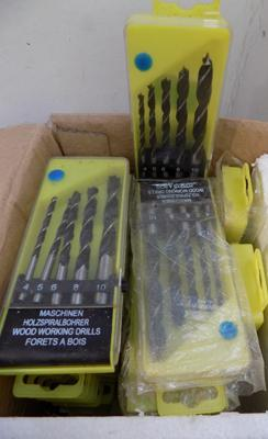 Box of wood drill bits