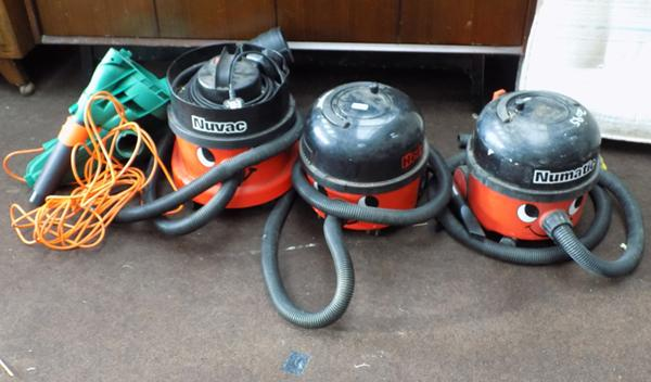 Job lot of 'Henry' hoovers and one other - some W/O