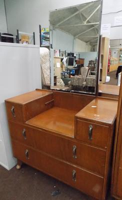 Mirrored back dresser