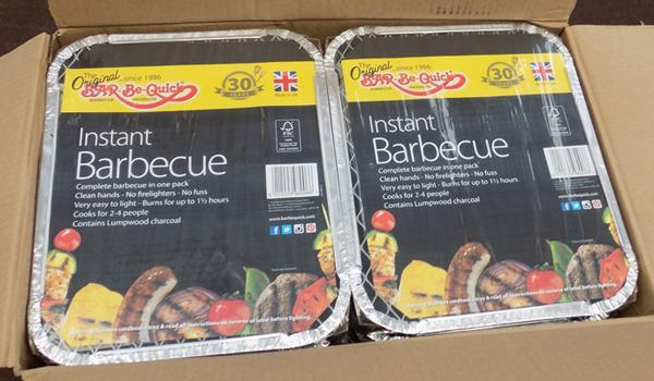 2 boxes of disposable BBQ's