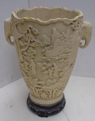 Carved ornamental vase