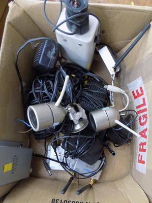 Large amount of CCTV cameras and chargers