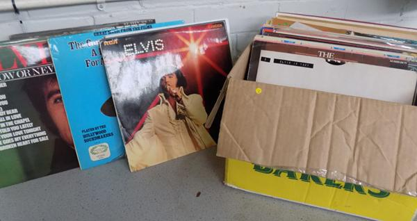 Box of LPs - Rock, pop and jazz