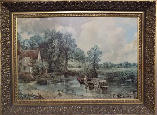 "Ornate framed print - Constable   (30"" x 22"")"