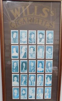 Wills Cigarette cards - Kings and Queens - Framed