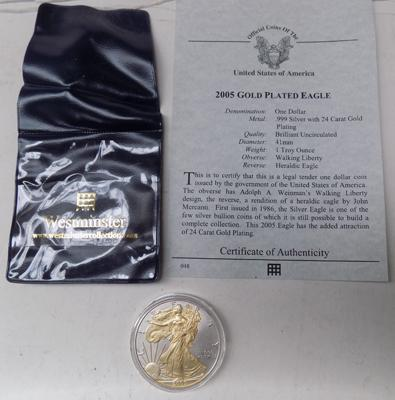 American one Troy ounce silver Dollar