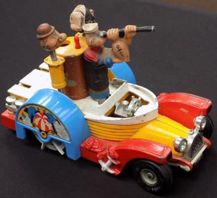 Vintage Popeye Corgi vehicle - not complete