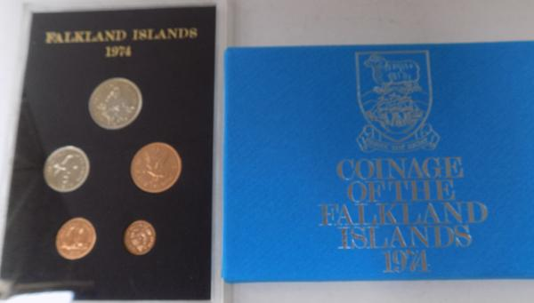 1974 Falkland islands proof coin set